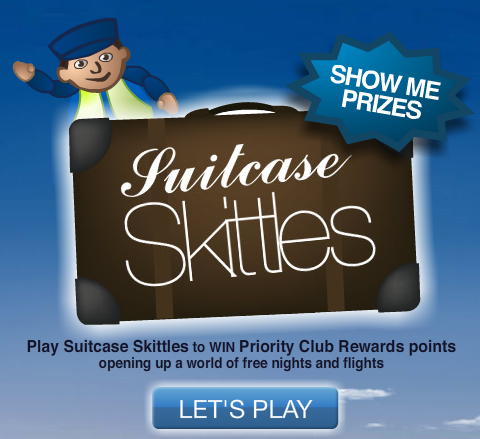 Play Suitcase Skittles to Win Free Nights