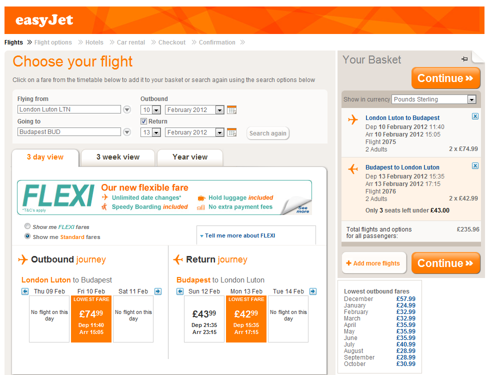 Easyjet Luton to Budapest