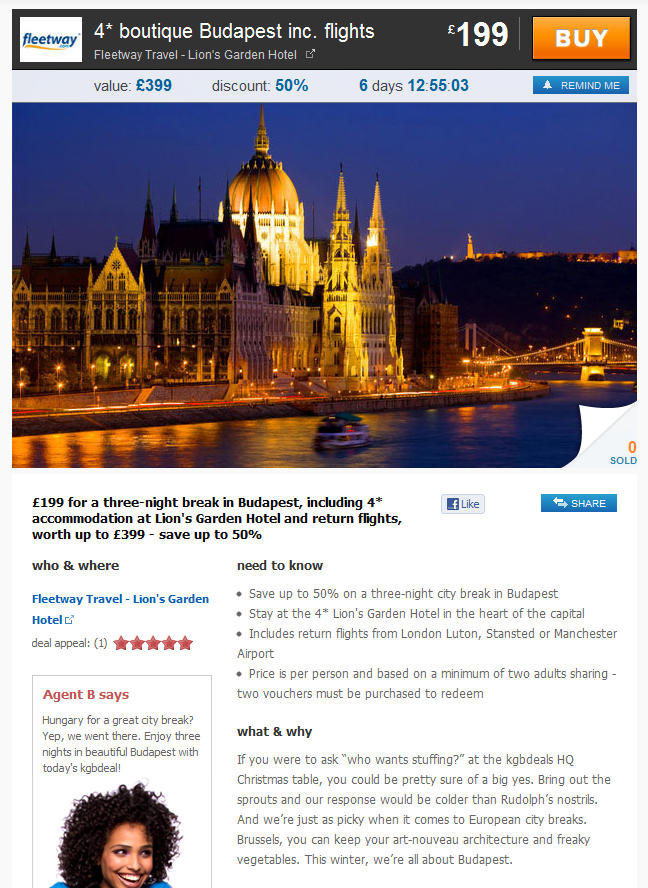KGB Deals Budapest Offer on Dec 5, 2011